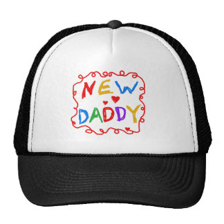 Primary Colors Text New Daddy Cap