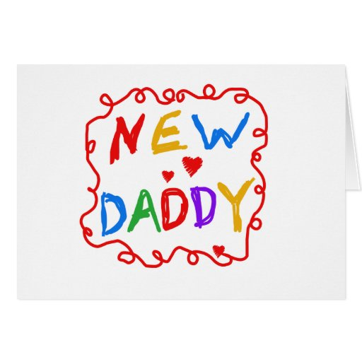 Primary Colors Text New Daddy Card