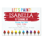 Primary Colour Painting Birthday Party Invitation