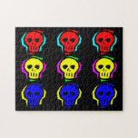 Primary Colour Skulls Puzzle