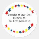 Primary Colour Stars Sticker