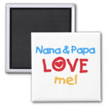 Primary Colours Nana and Papa Love Me Magnet