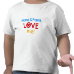 Primary Colours Nana and Papa Love Me Tshirt