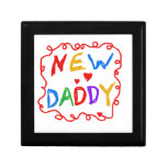 Primary Colours New Daddy Gifts Keepsake Boxes