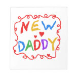 Primary Colours New Daddy Gifts Notepads