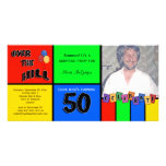 Primary Colours Photo Surprise 50th Birthday Party Customised Photo Card