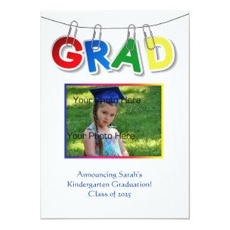 Primary Grad Text Photo 13 Cm X 18 Cm Invitation Card