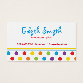Primary Polka Dots Business Card