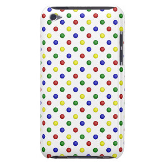 Primary Polka Dots,Transparent-iPod Touch 4g Case iPod Touch Case-Mate Case