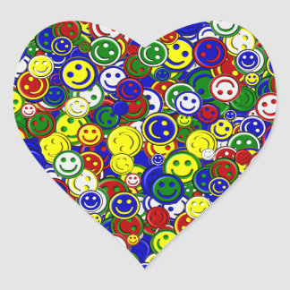 Primary Smiley Face Beads-BLUE-HEART STICKERS