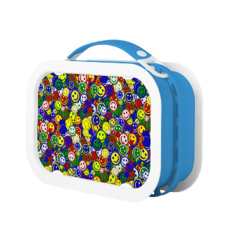 Primary Smiley Face Beads-BLUE-KIDS LUNCH BOX