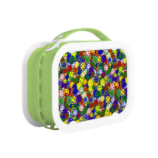 Primary Smiley Face Beads-GREEN-KIDS LUNCH BOX
