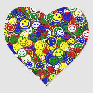 Primary Smiley Face Beads-RED-HEART STICKERS