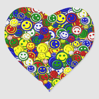 Primary Smiley Face Beads-YELLOW-HEART STICKERS