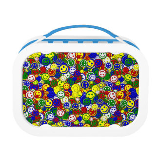 Primary Smiley Face Beads-YELLOW-KIDS LUNCH BOX