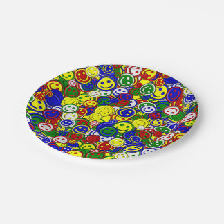 Primary Smiley Face Beads,YELLOW-PAPER PLATES 7 Inch Paper Plate
