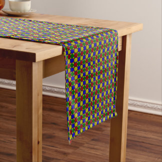 Primary Squares-INVERTED DOTS-COTTON TABLE RUNNER