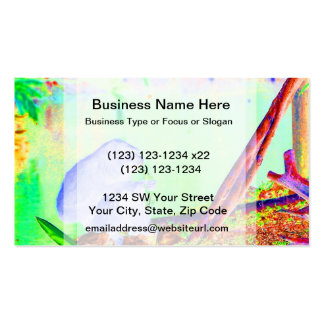 Primate eating greens on edge of land neon invert business card templates