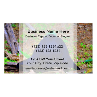 primate from the back blue green animal business cards