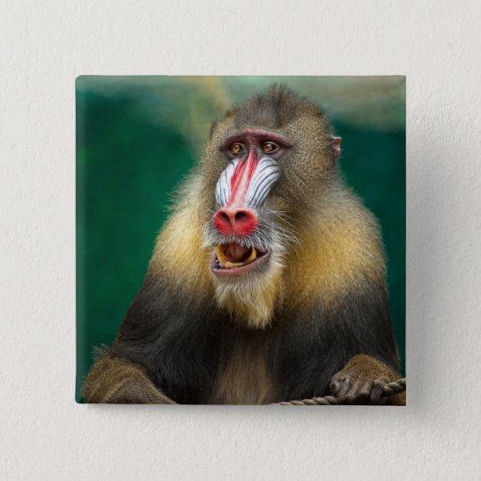 Primate Photography 15 Cm Square Badge