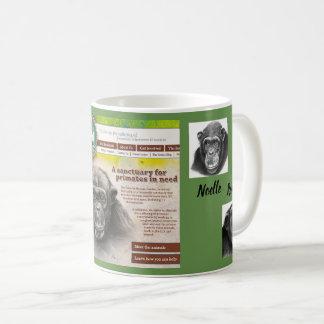 Primate Rescue Center in Kentucky logo &  3 chimps Coffee Mug