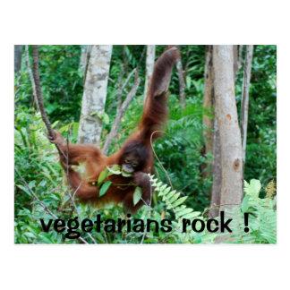 Primate Vegetarians Rock ! Postcard
