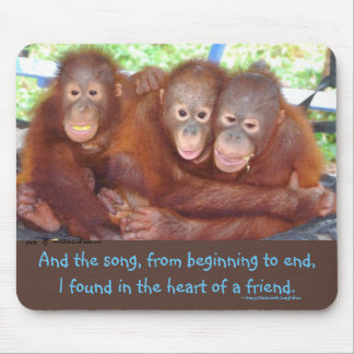 Primates Value Friendship 3 s not a crowd Mouse Pad