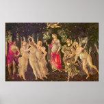 Primavera by Botticelli, Antique Renaissance Art Poster