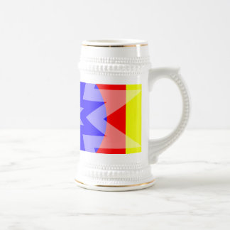 primay colored stars coffee mugs