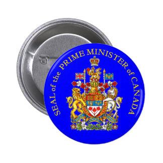 Prime Minister of Canada 6 Cm Round Badge