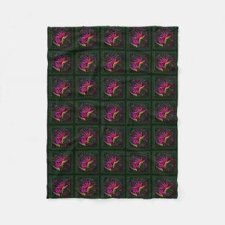 Primeval Paradise Fleece Blanket (Hot Pink 2)