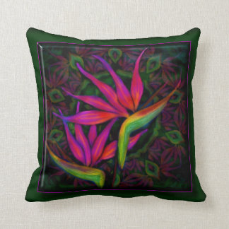 "Primeval Paradise (Hot Pink) Pillow 16"" x 16"""
