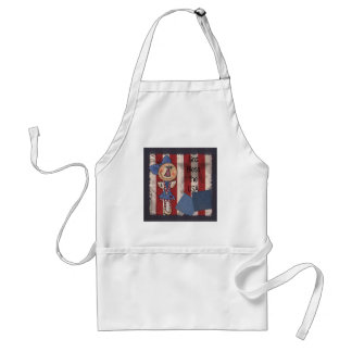 Primitive American Angel- Happy 4th of July Standard Apron