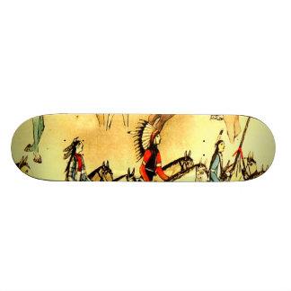 Primitive American Indian Drawings Folk Art Plaque Skate Boards