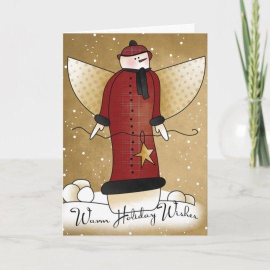 Primitive Santa Claus Christmas Snowman Doll Paper Pattern 540