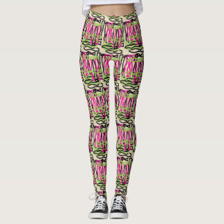 Primitive Artistic Scribbles Leggings