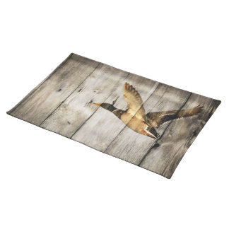 Primitive Barn wood Western Country mallard duck Placemat