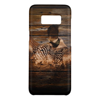 Primitive Barn wood Western Country waterfowl Loon Case-Mate Samsung Galaxy S8 Case