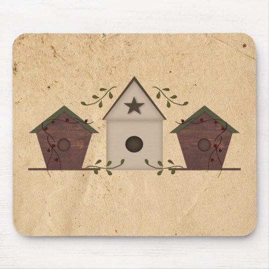 Primitive Birdhouses Mousepad