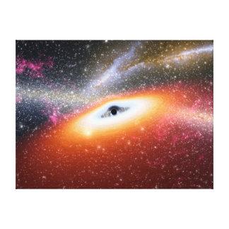 Primitive Black Hole Space Art Canvas Print