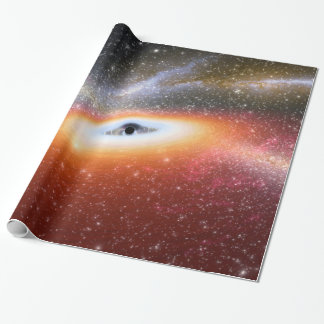 Primitive Black Hole Space Illustration NASA Wrapping Paper