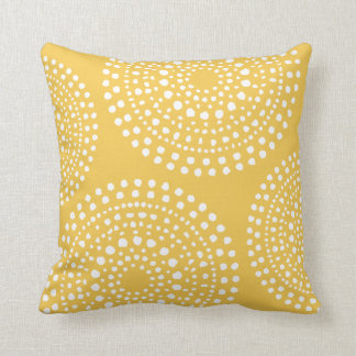 Primitive Boho Mosaic Pattern Yellow Cushion