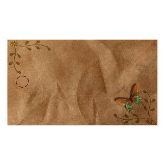 Primitive Butterfly Hang Tag Business Card Template