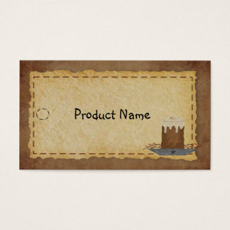 Primitive Candle Hang Tag Business Card