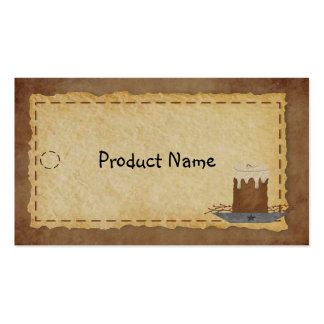 Primitive Candle Hang Tag Business Card Templates