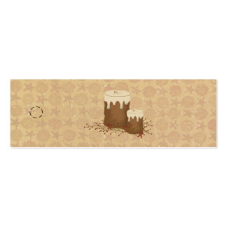 Primitive Candles Skinny Hang Tag Pack Of Skinny Business Cards
