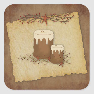 Primitive Candles Sticker