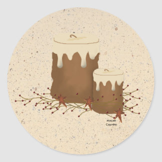 Primitive Candles Sticker