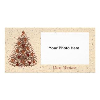 Primitive Christmas Tree Photo Card