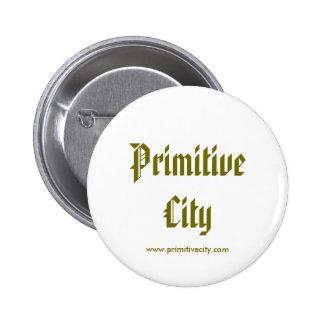 Primitive City Button 2 Inch Round Button